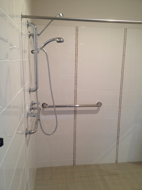 CVHMMS Modified Shower with Grab Rails
