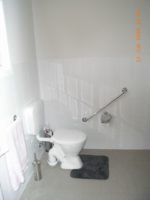 Modified Toilet wit grab rails